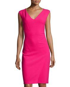 Megan Sleeveless Sheath Dress, Fuchsia Jewel by Diane von Furstenberg at Neiman Marcus Last Call.