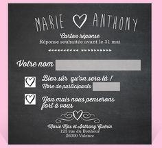 Carton réponse mariage réf.N300321