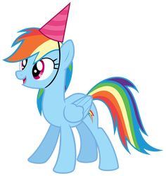 Rainbow Dash With A Party Hat Vector By Missbeigepony On Deviantart Festa Do My Little Pony, Little Pony Cake, My Little Pony Birthday Party, My Lil Pony, Baby Party, Rainbow Dash Party, Hat Vector, Little Poni, My Little Pony Drawing