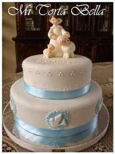Mi Torta Bella: Tortas para Bautismo Torta Baby Shower, Comunion Cakes, Christening Cake Boy, Baptism Cakes, Cake Decorating Books, Religious Cakes, Confirmation Cakes, First Communion Cakes, Angel Cake