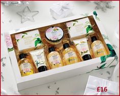 Mana #Aromatherapy #Beauty Collection  Complete range of Mana Aromatherapy products in a decorative gift box.   Contains 100ml of body butter, shower gel, hand wash and body scrub. 70g of bath soap. 50ml of bath salt, body lotion and hand lotion. #Lily of the Valley Scent.   Ideal for travel.   Presentation box measures W37 x H23.5 x D5cm  #Message me for more information. For more items you can visit my #facebook #group #Shop With Eve (#www.facebook.com/groups/ShopWithEve) x