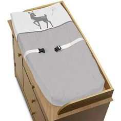 Sweet Jojo Designs Forest Deer Changing Pad Cover