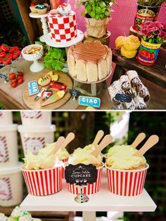 """La Dolce Vita"" Italy Inspired Twins Birthday Party with cookware, pasta and tomato can decor, tasty italian inspired treats, and a cute gelato station. Twin Birthday Parties, Birthday Celebration, Birthday Party Themes, Theme Parties, Pizza Party, Little Italy Party, Italy Party Theme, Italian Themed Parties, Italian Party Themes"