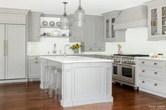 #gray cabinets Award-winning kitchen designer, Heidi Piron, creates hand-crafted kitchens and customized spaces - from traditional and transitional to contemporary and modern.