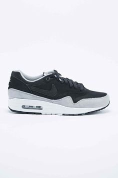 Nike Air Max 1 Suede Trainers in Black