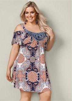 Caribbean Joe Womens Sleeveless Dress - Now Outfits Curvy Fashion, Look Fashion, Plus Size Fashion, Girl Fashion, Womens Fashion, Fashion Edgy, Plus Size Boho Clothing, Elegant Clothing, Gothic Clothing