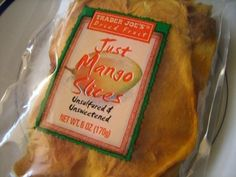 Trader Joes Dried Fruit - Just Mango Slices, Unsulfured & Unsweetened