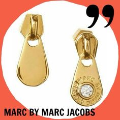 Marc by Marc Jacobs Rhinestoned Earrings Authentic. Preloved. Excellent condition, worn twice. Gold plated with a shiny rhinestone on each. Super cute zipper puller style. No trade/pp. Final sale. Marc by Marc Jacobs Jewelry Earrings