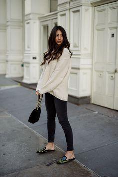 OOTD: Not Your Standard's Casual Look Goes Luxe with Velvet Mules #RueNow