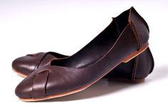 NATIVE Leather ballet flats / womens shoes / flat shoes by BaliELF, $100.00...these are PERFECT in every way!!!