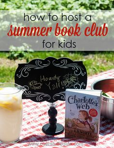 A really fun way to get your kids excited about reading in the summer is to host a summer book club for them! What better way to encourage reading than to have a fun party?