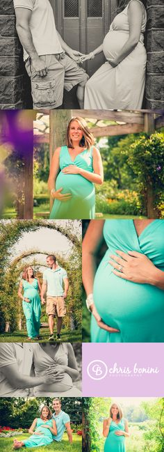 Stunning maternity session in the rose garden -- © Chris Bonini Photography #chrisboniniphotography #collage #maternity