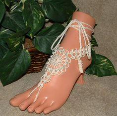 barefoot sandals crochet   Crochet Barefoot Sandals   Crochet Jewelry