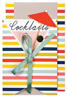 Cocktails Party Pull Invitation - LOVE!
