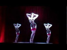 Dita Von Teese burlesque routine as a hologram video at Christian Louboutin's launch event at the Design Museum.  When she throws away the pieces of clothing she has taken off, they disappear / transform into sparkles. So amazing! #burlesque #ditavonteese
