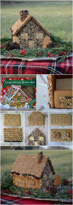 Gingerbread Bird House Feeder