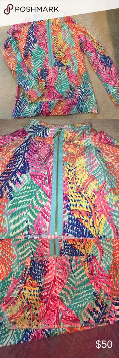 Lilly Pulitzer half zip pullover Great condition, worn once, comment any questions! Lilly Pulitzer Tops Sweatshirts & Hoodies