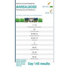 Day 145 Results  #realboss  #entrepreneur  #onlinemarketing