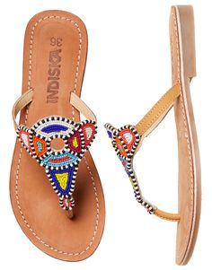f05c50780d35d In store - May. Melissa Deveth · Leather flip flops