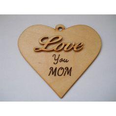 Ajándék tábla Love you mom felirattal anyának, hogy tudasd vele, gondolsz rá. Decoupage, Mom, Mothers