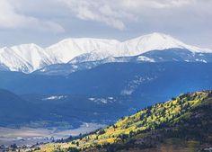 Highland Mountains overlooking Butte, Montana...