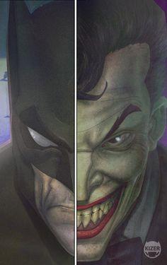 Joker and Batman Bat Joker, Joker And Harley Quinn, Dc Comics, Batman Comics, I Am Batman, Batman Art, Superman, Movies Costumes, Nananana Batman