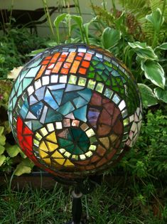 Mosaic bowling ball, no link, just the picture but it's pretty!