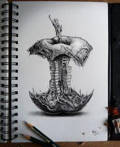 Resultado de imagen para los dibujos mas dificiles del mundo a lapiz en 3d