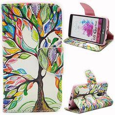Voguecase® Para LG G3 s,Funda Carcasa Cuero Tapa Case Cover(árbol de gran colorido) + Gratis aguja de la pantalla stylus universales - http://www.tiendasmoviles.net/2015/09/voguecase-para-lg-g3-sfunda-carcasa-cuero-tapa-case-coverarbol-de-gran-colorido-gratis-aguja-de-la-pantalla-stylus-universales/