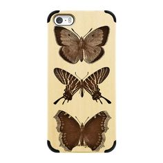 iPhone 6 Plus/6/5/5s/5c Wood Case - WOOD BUTTERFLY iphone case ($45) ❤ liked on Polyvore