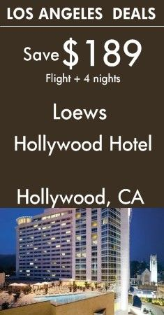 Los Angeles - CA: Loews Hollywood Hotel | Stylish high-rise at Hollywood & Highland entertainment complex | View All Package Deals!