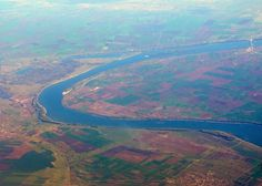 Dunarea vazuta din avion/The Danube seen from the airplane