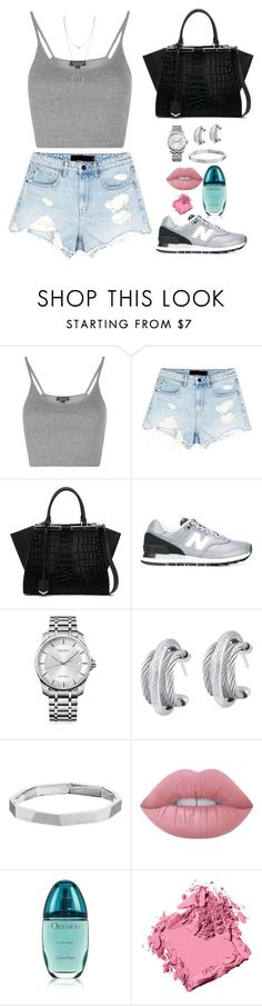 """Untitled #1753"" by candicedinh ❤ liked on Polyvore featuring Topshop, Alexander Wang, Fendi, New Balance, Calvin Klein, Alor, Michael Kors, Lime Crime, Bobbi Brown Cosmetics and Botkier"