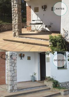 ANTES Y DESPUES. Entrada a la casa amplia  con Home Staging.