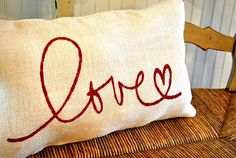 Love this burlap pillow!