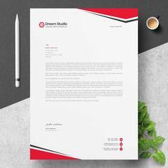 Modern company letterhead Company Letterhead, Letterhead Business, Letterhead Design, Letterhead Template, Business Brochure, Modern Business Cards, Creative Business, Vector Design, Flyer Design