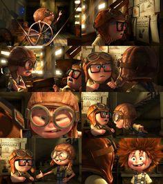 Carl and Ellie Up Pixar, Disney Pixar Up, Pixar Movies, Cute Disney, Disney Movies, Animation Movies, Cartoon Tv, Cartoon Characters, Up Carl Y Ellie