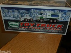 $38.99 OBO! NIB 2008 HESS TOY TRUCK AND FRONT LOADER! See this and other NEW Hess Trucks at my site!