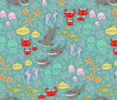 sea friends fabric by pattyryboltdesigns on Spoonflower - custom fabric