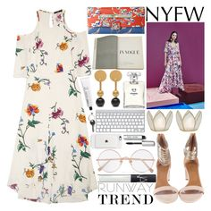 """""""I would jump right over in to cold cold shoulder for you"""" by igedesubawa ❤ liked on Polyvore featuring TIBI, Tanya Taylor, Cultural Intrigue, Aquazzura, Valentino, Assouline Publishing, Chanel, Mulberry, L:A Bruket and Bobbi Brown Cosmetics"""
