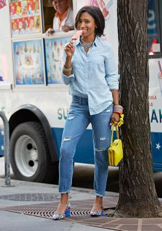 "2014 ""boyfriend style. And the denim shirt is supersoft and light."" —Jodie Patterson, Cofounder and chief creative officer of beauty site DooBop."