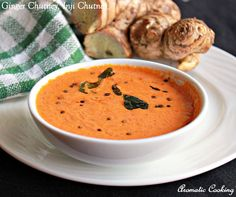 Spicy Ginger Chutney for Idlis and Dosas Healthy Indian Recipes, Veg Recipes, Vegetarian Recipes, Cooking Recipes, Curry Recipes, Healthy Food, Healthy Eating, Indian Breakfast, Recipes