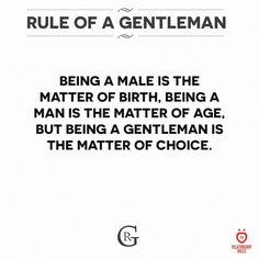 Gentleman Rules, True Gentleman, Relationship Rules, Tao