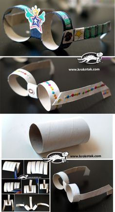 Sunglasses from empty toilet paper rolls Más Toilet Paper Roll Art, Rolled Paper Art, Toilet Paper Roll Crafts, Projects For Kids, Diy For Kids, Crafts For Kids, Preschool Crafts, Kids Playing, Activities For Kids