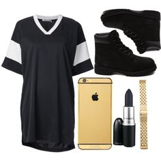 10 bands~Drake by conversequeen23 on Polyvore featuring T By Alexander Wang, Timberland, Michele and M.A.C
