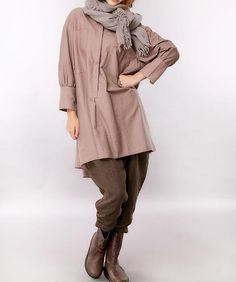 Spring simple stylish Long shirts/ Women asymmetry by MaLieb
