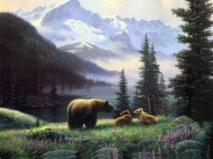 An iceberg Bear Animal Paintings HD Print on Canvas Home Decor Wall Art Pictures Wildlife Paintings, Wildlife Art, Animal Paintings, Artistic Wallpaper, Painting Wallpaper, Wall Art Pictures, Pictures To Paint, Art D'ours, Pet Mice