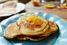 Doctoring up a good pancake mix is one of the secrets to happiness when it comes to breakfast time in our crazy household. I don't feel guilty about it at all, because there are so many great, whol…