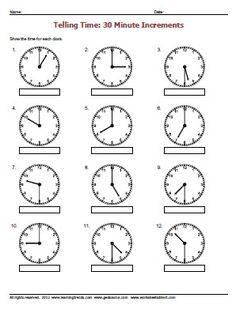 math worksheet : analog clocks draw the time  worksheets worksheets for  : Kindergarten Clock Worksheets