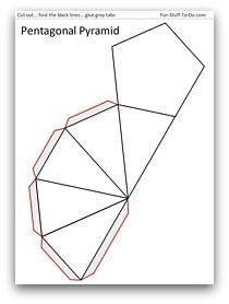 3D Geometric Shapes NETS Prisms